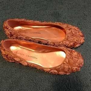 Ribbon Roses Flats by Chinese Laundry 8 1/2